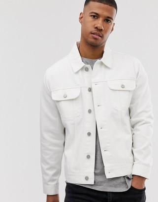 ASOS DESIGN oversized denim jacket in white