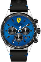 Ferrari Men's Chronograph Pilota Black Leather Strap Watch 45mm 0830388