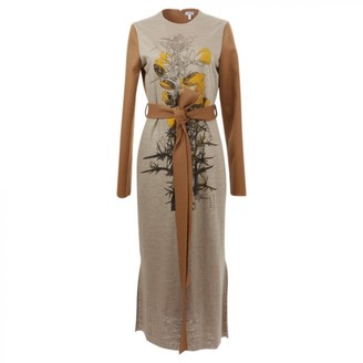 Loewe Camel Linen Dresses