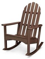 Adirondack Polywoodâ® Classic Plastic Rocking Chair POLYWOODA Color: Mahogany