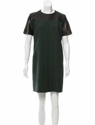 Jason Wu Short Sleeve Shift Dress green