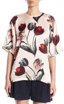 Mother of Pearl Shirley Floral Silk Top