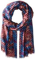 Bindya Geo Chevron Cashmere/Silk Wrap