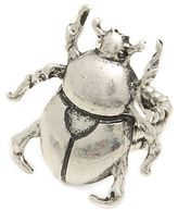 *MKL Accessories The Giant Beetle Ring in Silver