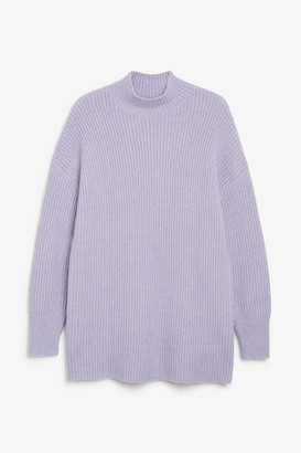 Monki Long chunky knit sweater
