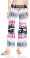 J Valdi Women's Tie Dye Foldover Pant