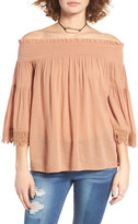 Sun & Shadow Off the Shoulder Blouse