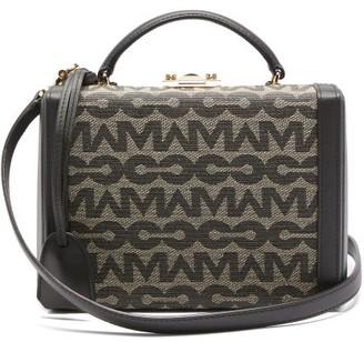 Mark Cross Grace Small Logo-jacquard & Leather Box Bag - Black Multi