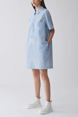 Cos Zip-Up Cotton Cupro Shirt Dress