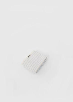 Tekla Terry Washcloth Baby Blue Stripes