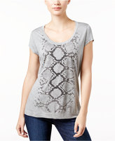 Calvin Klein Jeans Snakeskin-Print T-Shirt