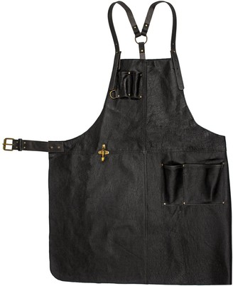 Eva D. Handcrafted Leather Apron Black