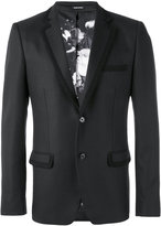 Alexander McQueen embroidered trim blazer - men - Silk/Cotton/Polyester/Virgin Wool - 46