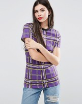 House of Holland Plaid T-Shirt