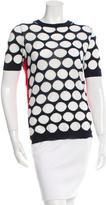 Marni Crochet-Accented Intarsia Top w/ Tags