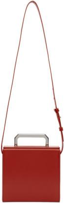 Bottega Veneta Red Spazzolato Mini Trunk Messenger Bag