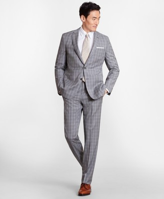 Brooks Brothers Regent Fit Three-Button Check 1818 Suit