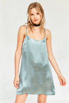 Silence + Noise Satin Shine Mini Slip Dress