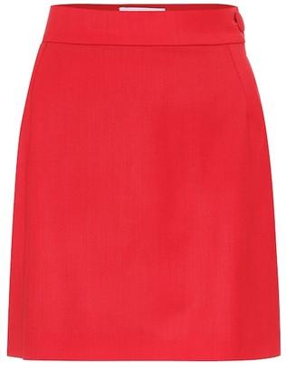 ATTICO Stretch-wool miniskirt