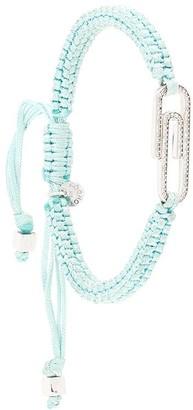 Tateossian Paper Clip pave diamond-embellished bracelet