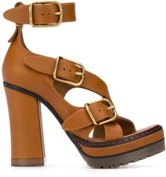 Chloé Daisy 120mm platform sandals