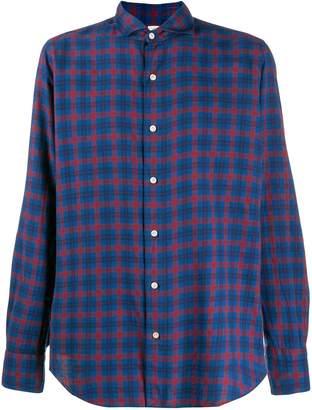 Finamore 1925 Napoli check print long-sleeved shirt