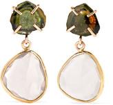 Melissa Joy Manning 14-karat Gold, Tourmaline And Quartz Earrings