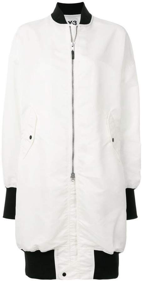 Y-3 long bomber jacket
