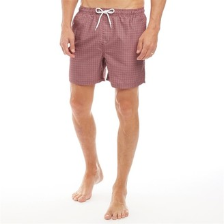 clear Onfire Mens All Over Print Swim Shorts Red