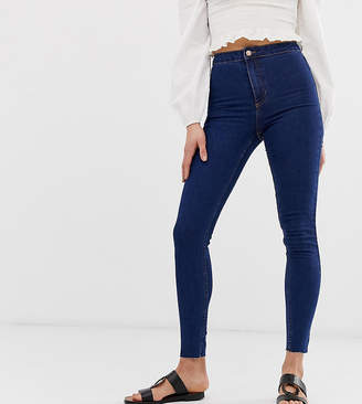 New Look Tall skinny disco jeans in mid blue