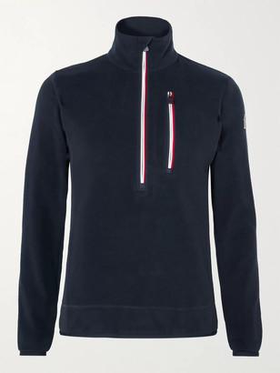MONCLER GRENOBLE Logo-Appliqued Stretch-Fleece Half-Zip Ski Base Layer