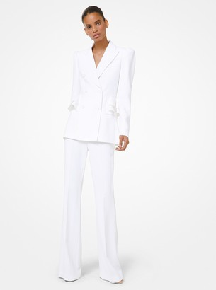 Michael Kors Collection Double Crepe Sable Peplum Blazer