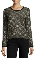 Parker Bellerose Long-Sleeve Metallic Sweater, Black