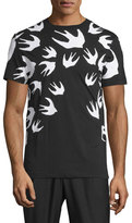 McQ by Alexander McQueen Bird-Print Short-Sleeve T-Shirt