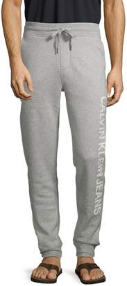 Calvin Klein Jeans Logo Cotton-Blend Sweatpants