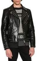 Alexander McQueen Studded Calf Leather Moto Jacket, Black