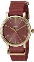 Timex Originals Tonal Marsala Nylon Slip-Thru Strap