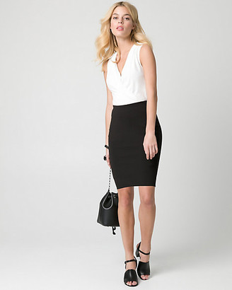 Le Château Knit Crepe Pencil Skirt