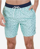 Nautica Men's Quick-Dry Anchor Paisley Swim Trunks