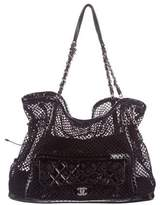Chanel Crochet Bon Bon Tote w/ Flap Bag