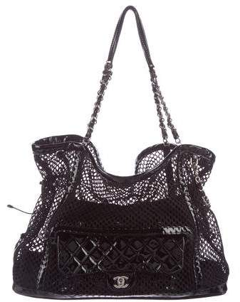 Chanel Crochet Bon Bon Tote w/ Flap Bag