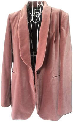 Brunello Cucinelli Pink Velvet Jacket for Women