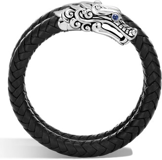 John Hardy Legends Naga Coiled Leather Bracelet