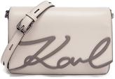 Karl Lagerfeld Women's K/Metal Signature Shoulder Bag Travertine