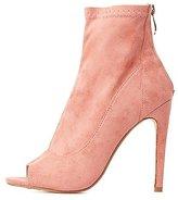 Charlotte Russe Peep Toe Ankle Booties
