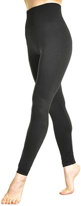 Angelina Women's Leggings Black - Black High-Waist Slimming Shaper Leggings - Women