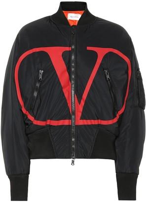 Valentino VLOGO nylon bomber jacket