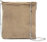 The Row Medicine Large Suede Shoulder Bag - Camel