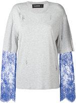 Filles a papa 'Ashley' lace sleeve layered T-shirt - women - Cotton/Polyamide - 0