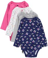 "Carter's Baby Girls' ""Spring Dawning"" 4-Pack L/S Bodysuits"